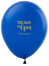 The Bar is Open Latex Balloons