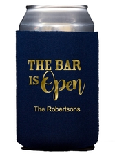The Bar is Open Collapsible Koozies