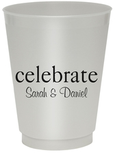 Big Word Celebrate Colored Shatterproof Cups