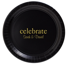 Big Word Celebrate Paper Plates