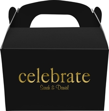 Big Word Celebrate Large Favor Boxes