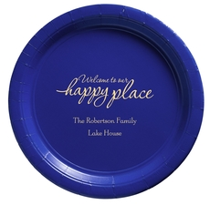 Welcome to Our Happy Place Paper Plates