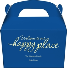 Welcome to Our Happy Place Gable Favor Boxes