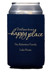 Welcome to Our Happy Place Collapsible Koozies