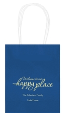 Welcome to Our Happy Place Mini Twisted Handled Bags