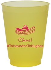 Sombrero Colored Shatterproof Cups