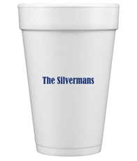 Your Name Styrofoam Cups