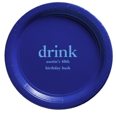 Big Word Drink Paper Plates