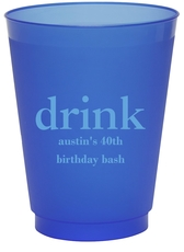 Big Word Drink Colored Shatterproof Cups
