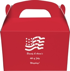 American Flag Gable Favor Boxes