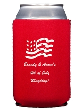 American Flag Collapsible Koozies