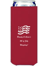 American Flag Collapsible Slim Koozies