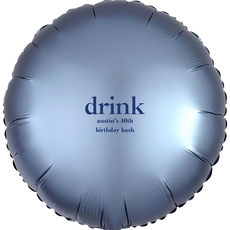 Big Word Drink Mylar Balloons