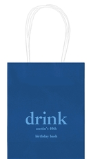 Big Word Drink Mini Twisted Handled Bags