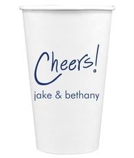 Fun Cheers Paper Coffee Cups