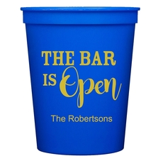 The Bar is Open Stadium Cups