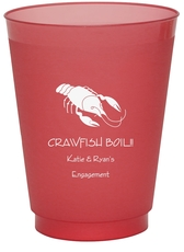 Crawfish Colored Shatterproof Cups