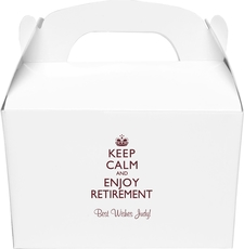 Keep Calm and Enjoy Retirement Gable Favor Boxes