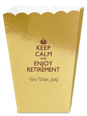 Keep Calm and Enjoy Retirement Mini Popcorn Boxes