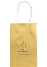 Keep Calm and Enjoy Retirement Medium Twisted Handled Bags