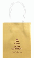 Keep Calm and Enjoy Retirement Mini Twisted Handled Bags
