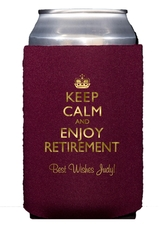 Keep Calm and Enjoy Retirement Collapsible Koozies