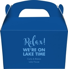 Relax We're on Lake Time Gable Favor Boxes