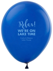 Relax We're on Lake Time Latex Balloons