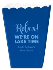 Relax We're on Lake Time Mini Popcorn Boxes