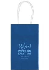 Relax We're on Lake Time Medium Twisted Handled Bags