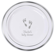 Baby Twinkle Toes Premium Banded Plastic Plates
