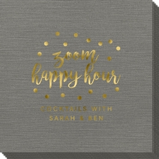 Confetti Dot Zoom Happy Hour Bamboo Luxe Napkins