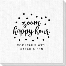 Confetti Dot Zoom Happy Hour Deville Napkins