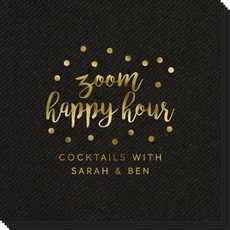 Confetti Dot Zoom Happy Hour Linen Like Napkins