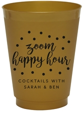 Confetti Dot Zoom Happy Hour Colored Shatterproof Cups