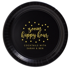 Confetti Dot Zoom Happy Hour Paper Plates