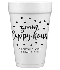 Confetti Dot Zoom Happy Hour Styrofoam Cups