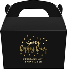 Confetti Dot Zoom Happy Hour Gable Favor Boxes