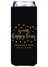 Confetti Dot Zoom Happy Hour Collapsible Slim Koozies