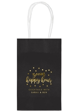 Confetti Dot Zoom Happy Hour Medium Twisted Handled Bags