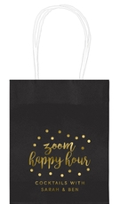 Confetti Dot Zoom Happy Hour Mini Twisted Handled Bags