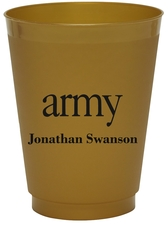 Big Word Army Colored Shatterproof Cups