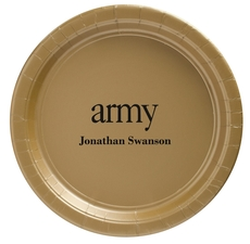 Big Word Army Paper Plates