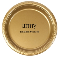 Big Word Army Plastic Plates