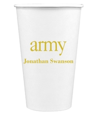 Big Word Army Paper Coffee Cups