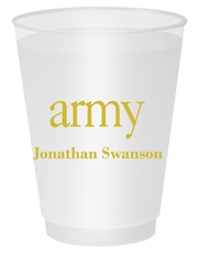 Big Word Army Shatterproof Cups