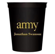 Big Word Army Stadium Cups