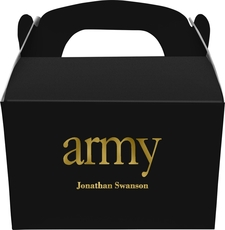 Big Word Army Gable Favor Boxes