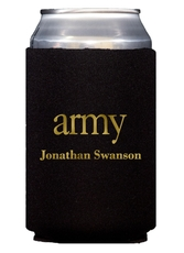 Big Word Army Collapsible Koozies