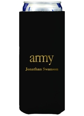 Big Word Army Collapsible Slim Koozies